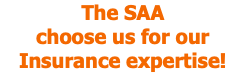 The SAA choose us for our Insurance expertise!